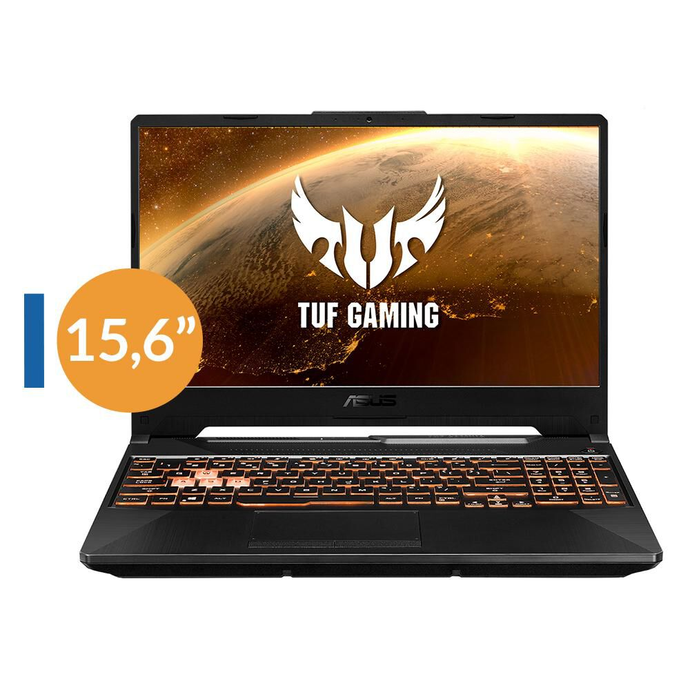 "Notebook Gamer Asus Tuf Gaming Fx506lh-hn082t / Bonfire Black / Intel Core I5 / 8 Gb Ram / Nvidia Geforce Gtx1650 / 512 Gb Ssd / 15.6 "" image number 0.0"