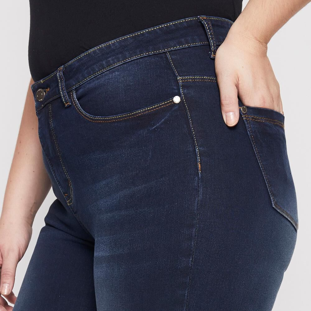 Jeans Tiro Alto Recto Mujer Sexy Large image number 5.0