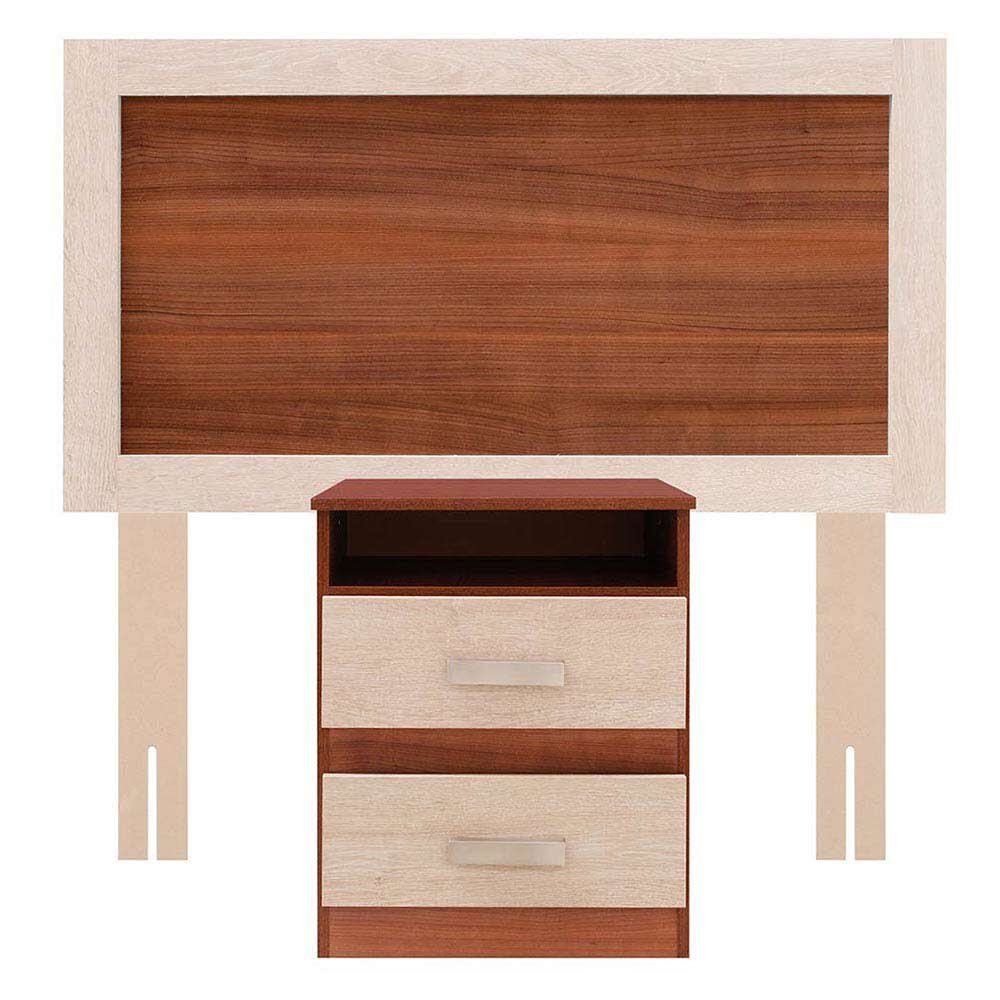 Cama Europea Celta Bamboo / 2 Plazas / Base Normal  + Set De Maderas + Textil image number 6.0