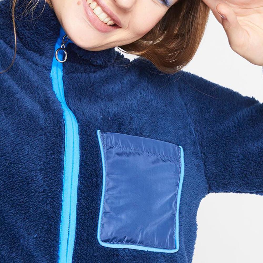 Poleron Polar Bicolor Cuello Alto Mujer Freedom image number 3.0