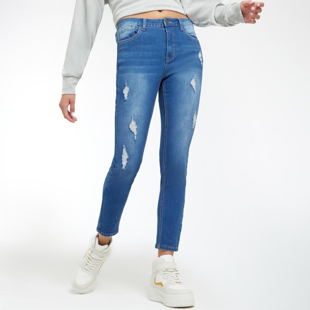 Jeans Mujer Tiro Alto Super Skinny Freedom image number 2.0