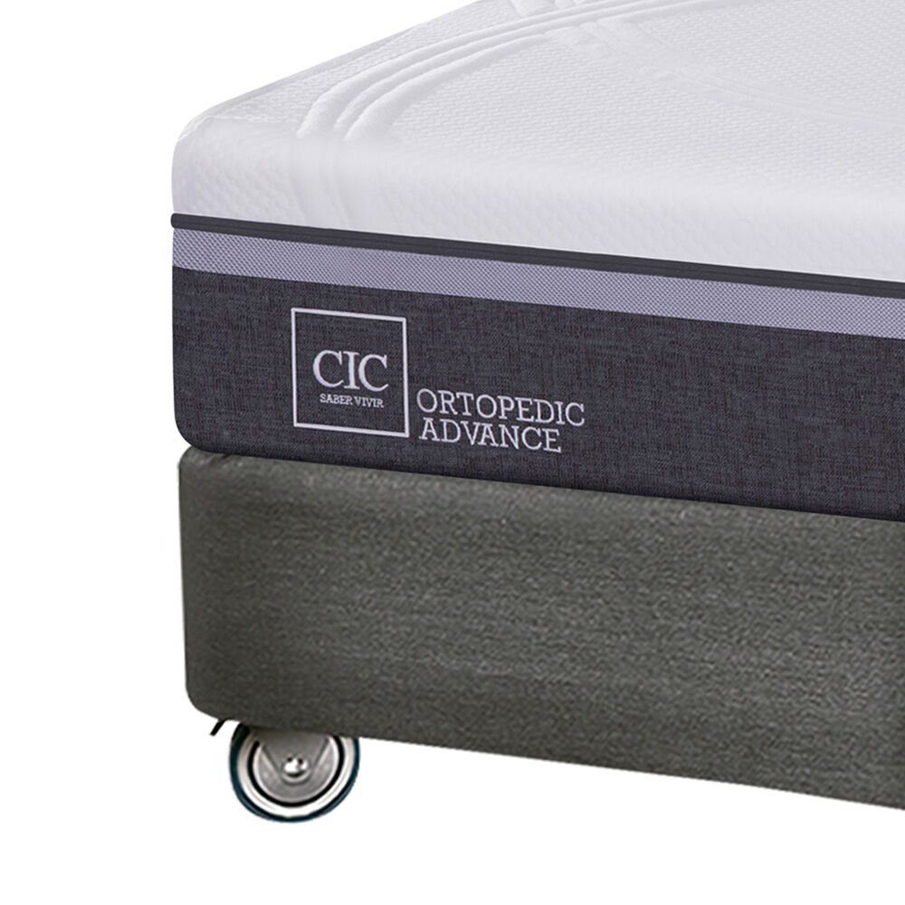 Box Spring Cic Ortopedic Advance / King / Base Dividida + Textil image number 2.0