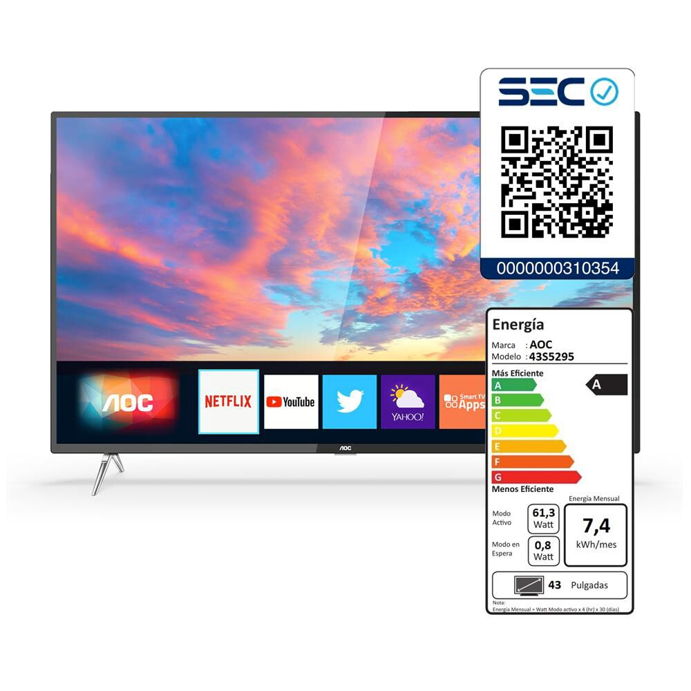"Led AOC 50U6295 / 50"" / Ultra Hd / 4K / Smart Tv image number 4.0"