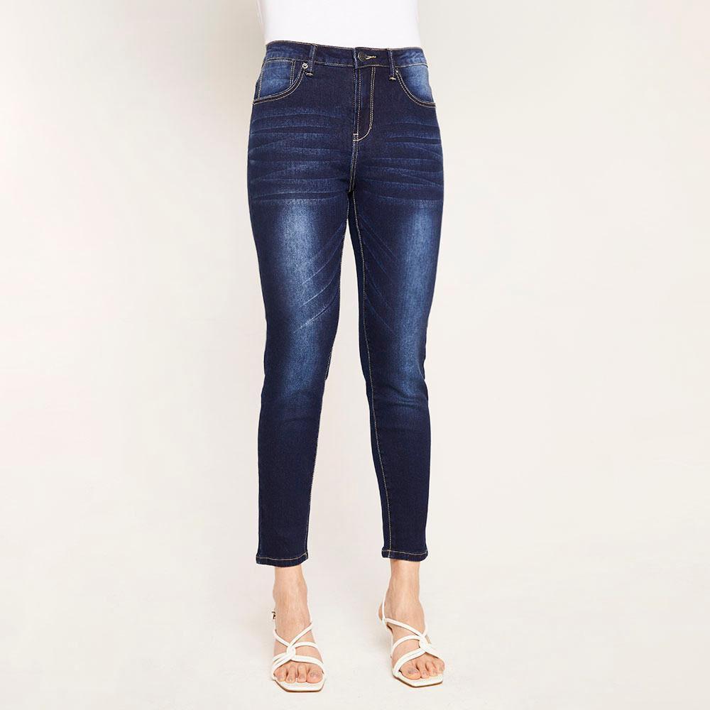 Jeans Básico Tiro Medio Skinny Mujer Kimera image number 0.0