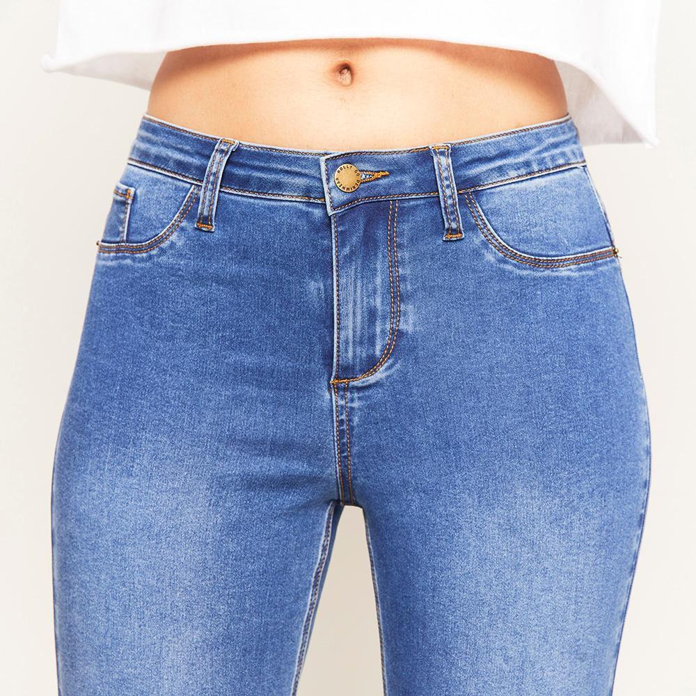 Jeans Básico Tiro Alto Super Skinny Mujer Rolly Go image number 3.0
