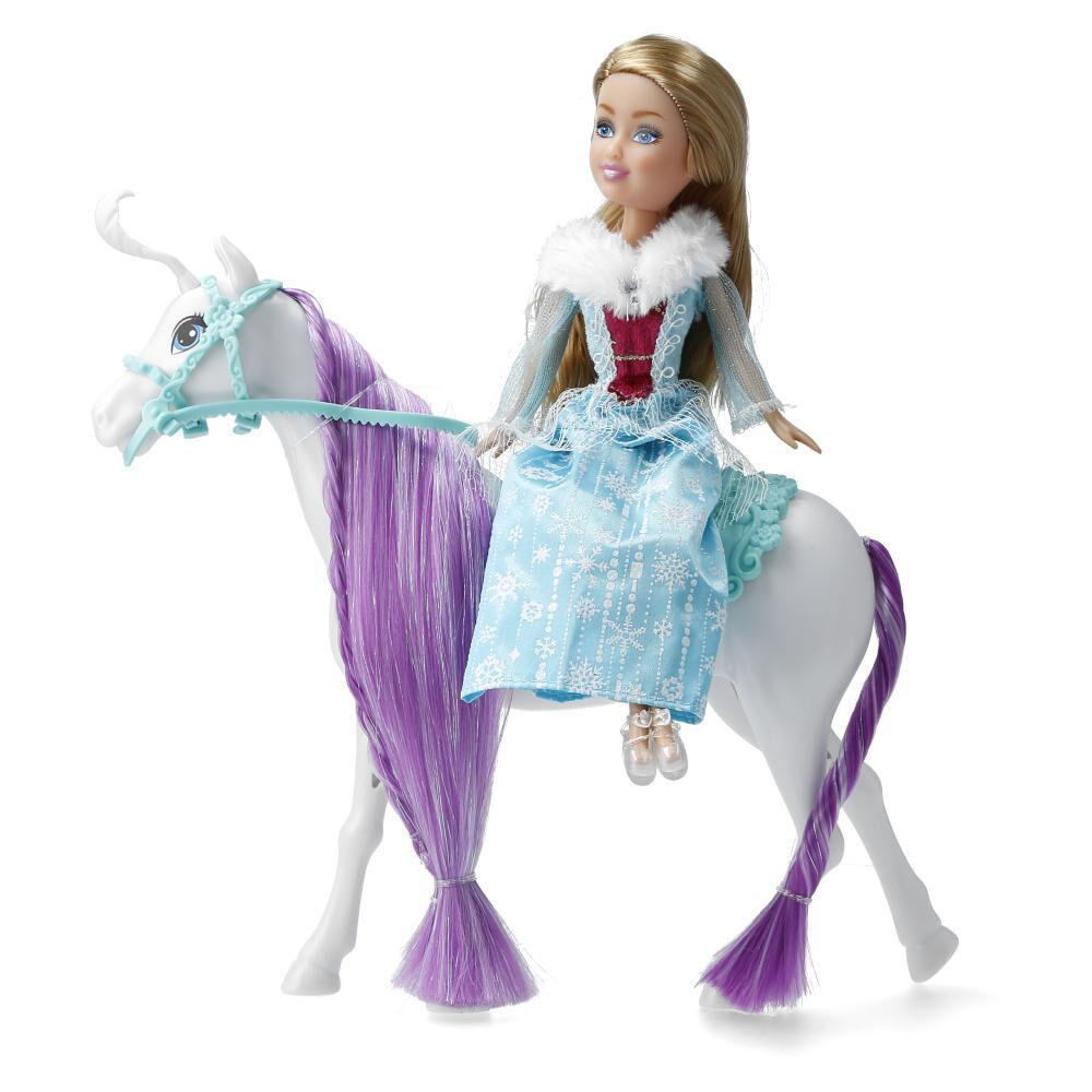 Caballo De Muñeca Hitoys Winter Princess Whit Horse image number 2.0