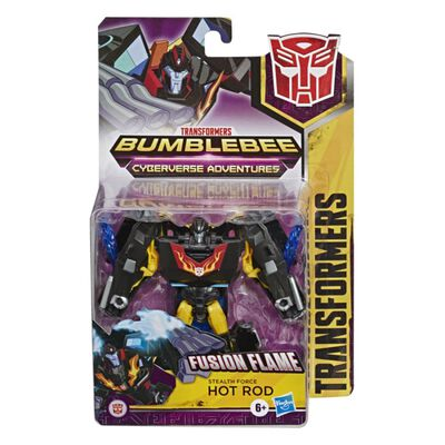Figura De Accion Transformers Transformers Cyberverse Stealth Force Hot Rod