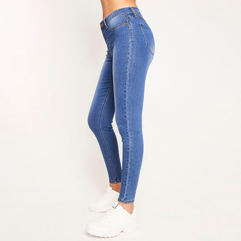 Jeans Básico Tiro Alto Super Skinny Mujer Rolly Go image number 5.0