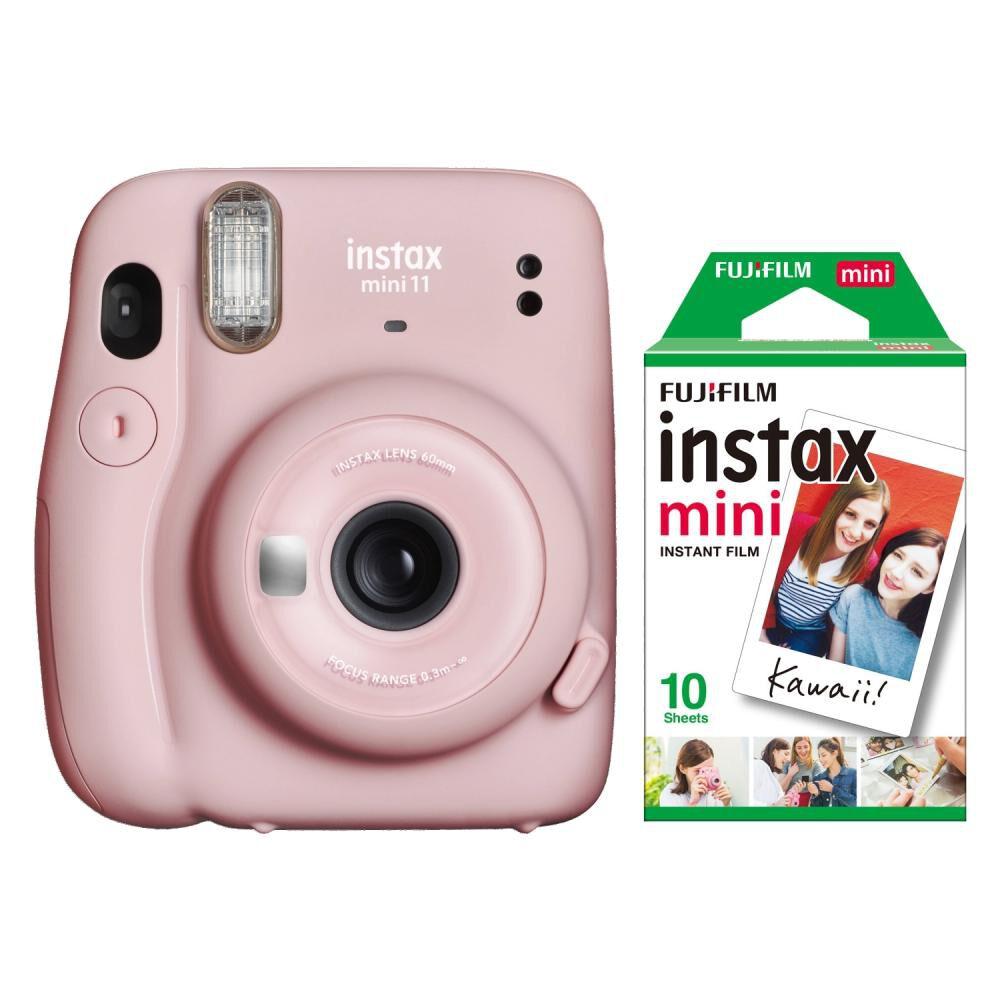 Cámara Instantánea Fujifilm Instax Mini 11 Pink + Película image number 0.0