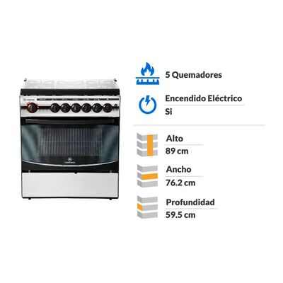 Cocina Mademsa Diva 920 / 5 Quemadores