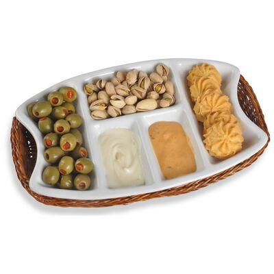 Bandeja Snack Azhome Bandeja Con Canasta / 2 Piezas