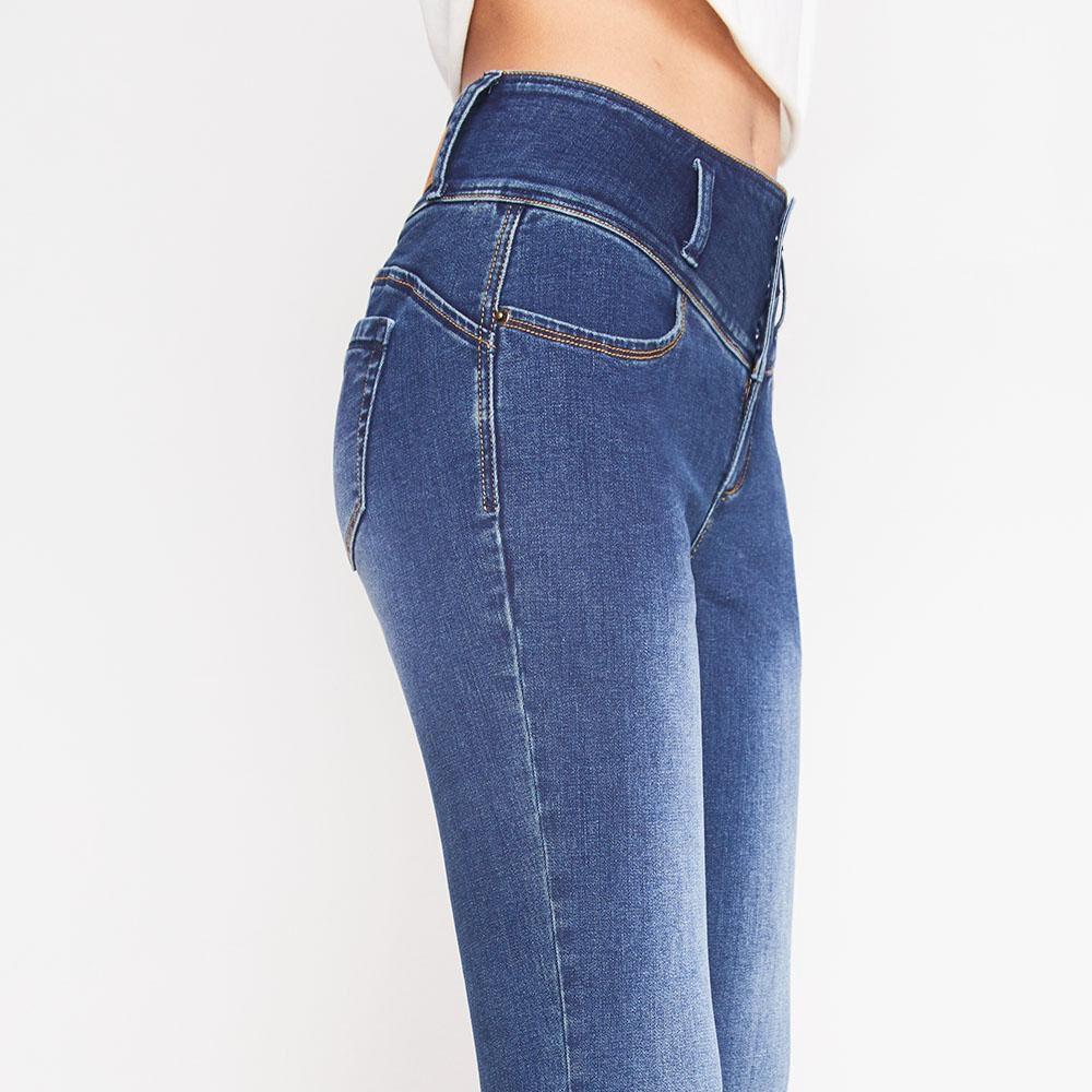Jeans Tiro Alto Con Almohadillas Rolly Go image number 4.0