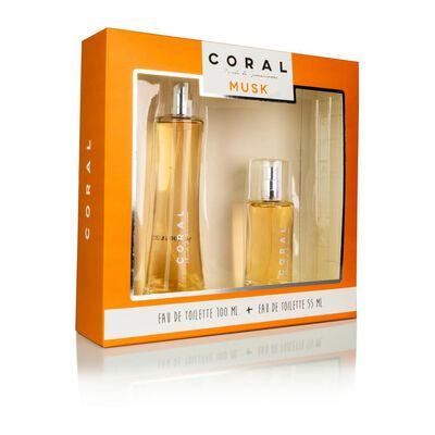 Estuche Musk Coral / 100 Ml / Edt + Colonia 55ml