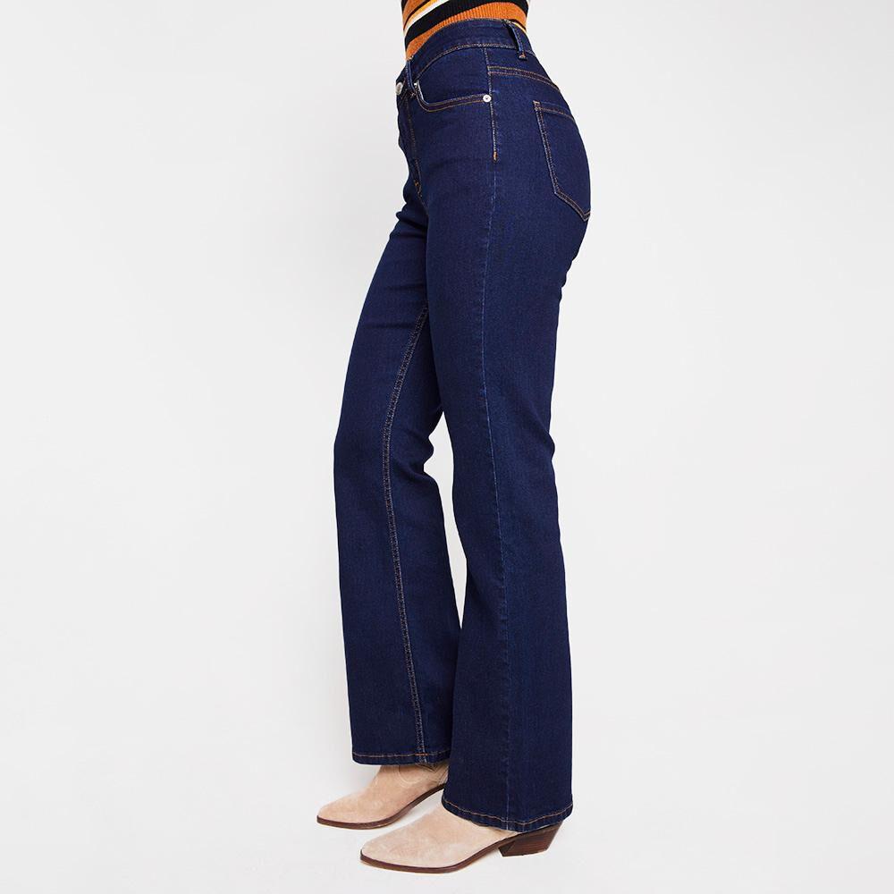 Jeans Mujer Tiro Alto Flare Kimera image number 5.0