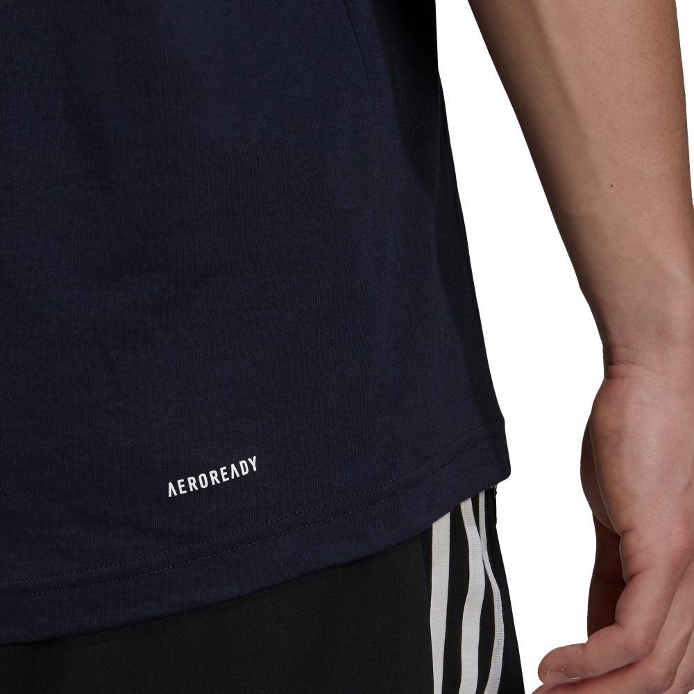 Polera Hombre Adidas D2m Feelready Logo image number 4.0