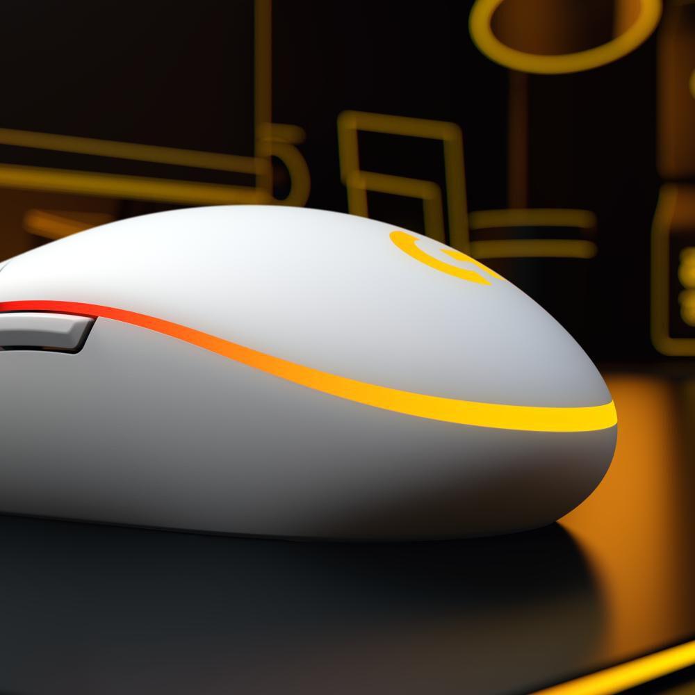 Mouse Gamer Logitech G203 White image number 4.0