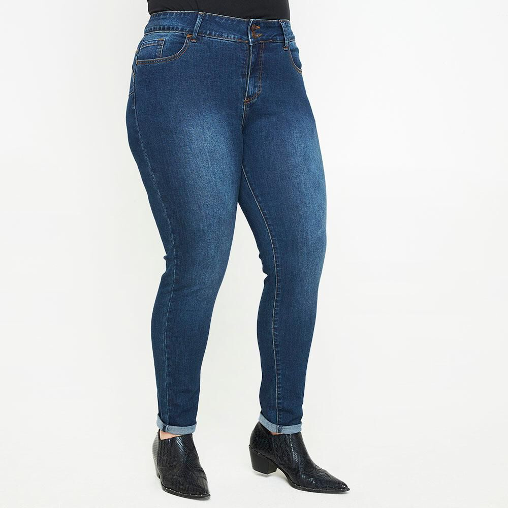 Jeans Jogger Tiro Medio Skinny Mujer Sexy Large image number 0.0