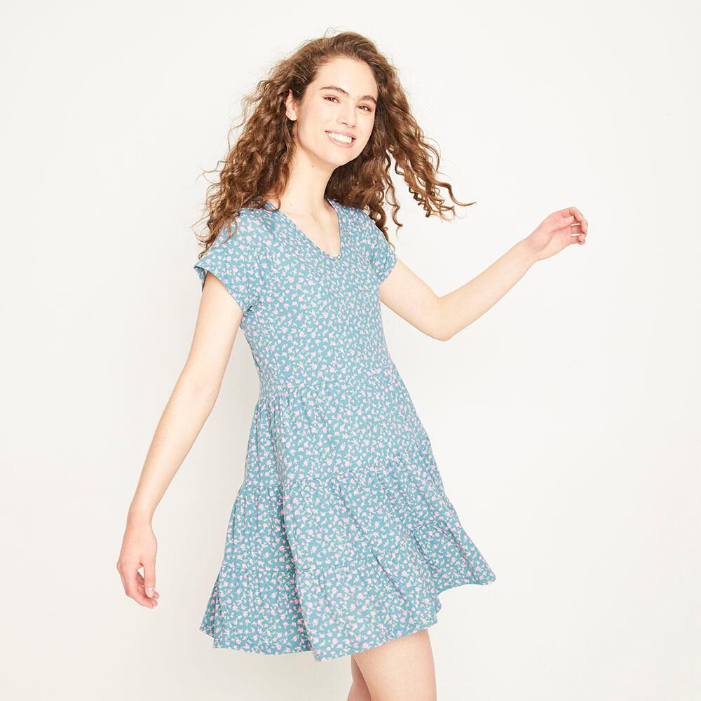 Vestido Corto Relaxed Fit Manga Corta Mujer Freedom image number 0.0