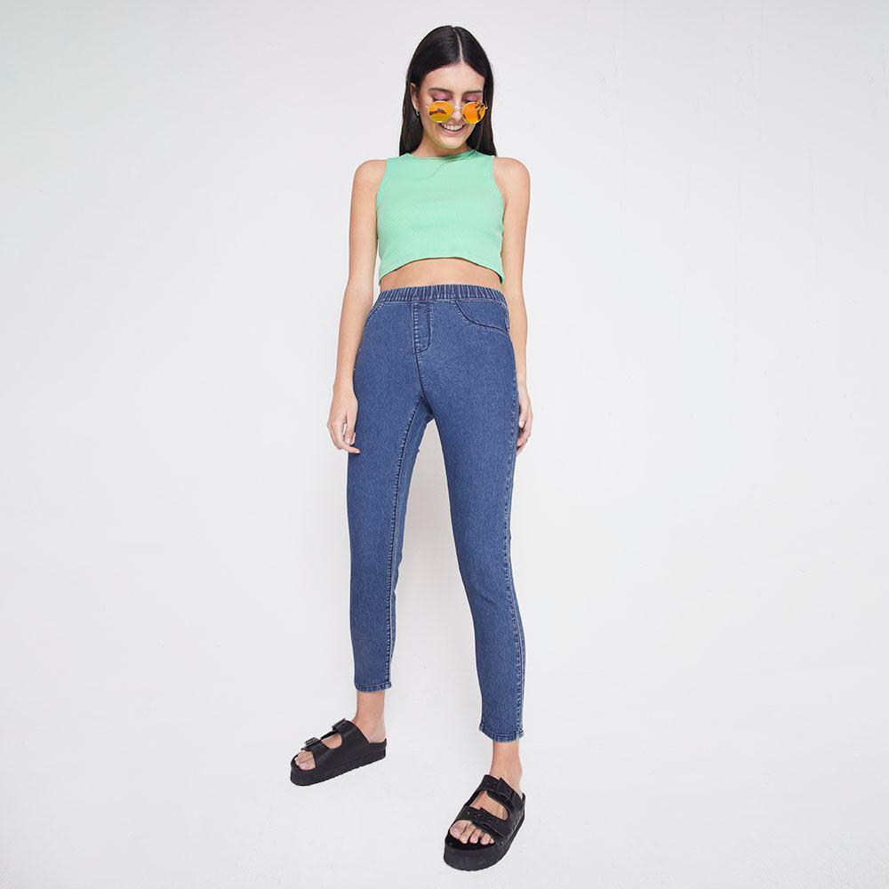 Jeans Tiro Alto Super Skinny Mujer Freedom image number 1.0