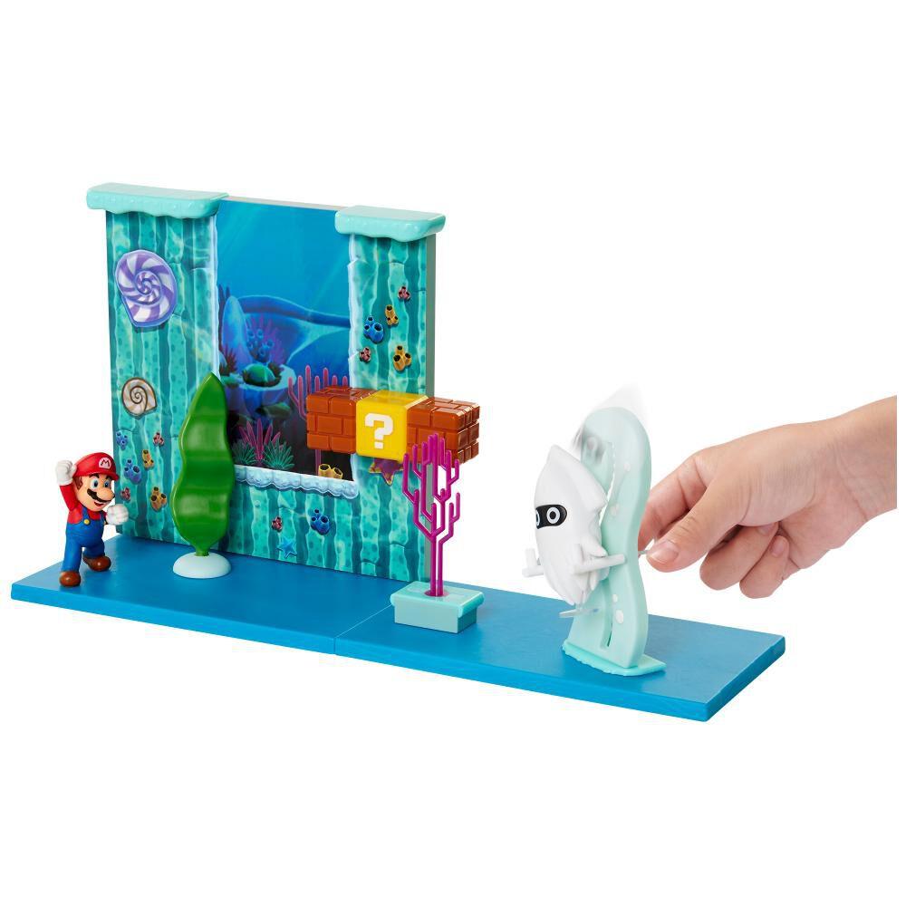 Figura De Accion Nintendo Set Escena Batalla Bajo El Agua Super Mario image number 5.0