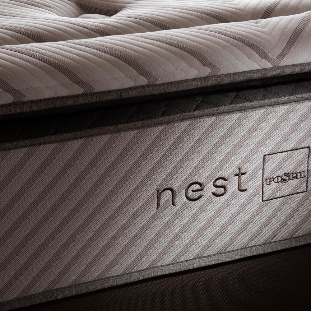 Cama Europea Rosen Nest / King / Base Dividida + Set De Maderas image number 4.0