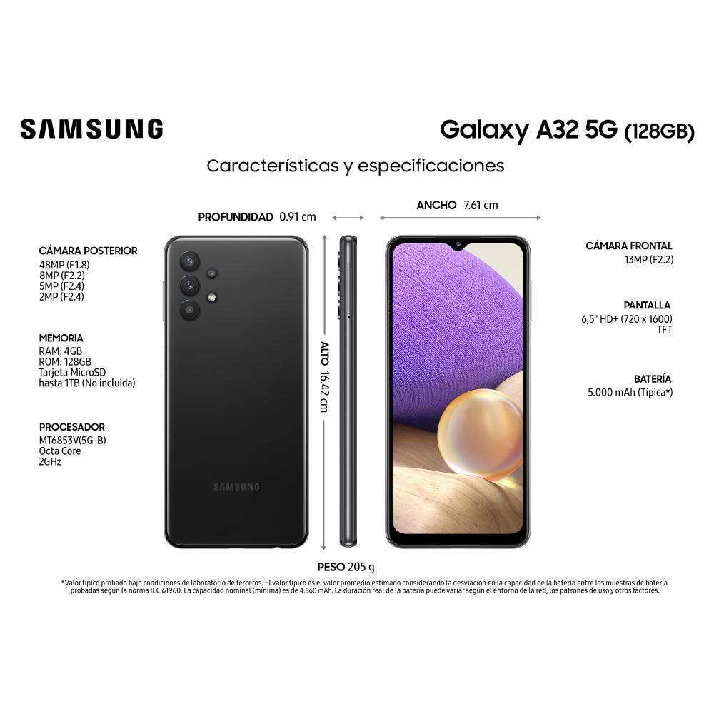 Smartphone Samsung A32 5G Black / 128 Gb / Liberado image number 2.0