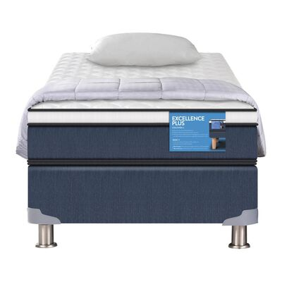 Cama Americana Cic Excellence Plus / 1 Plaza / Base Normal  + Textil