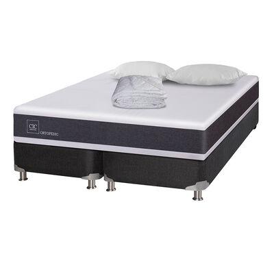 Box Spring Cic Ortopedic B5 / 2 Plazas / Base Dividida + Textil