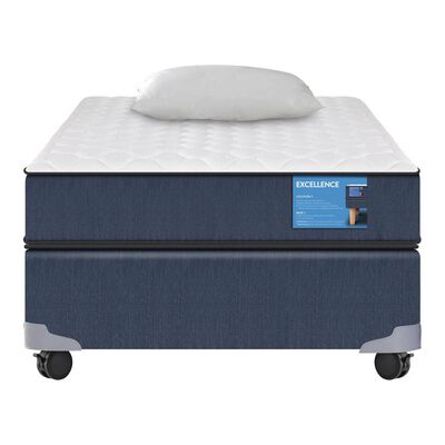 Cama Americana Cic Excellence / 1.5 Plazas / Base Normal + Almohada