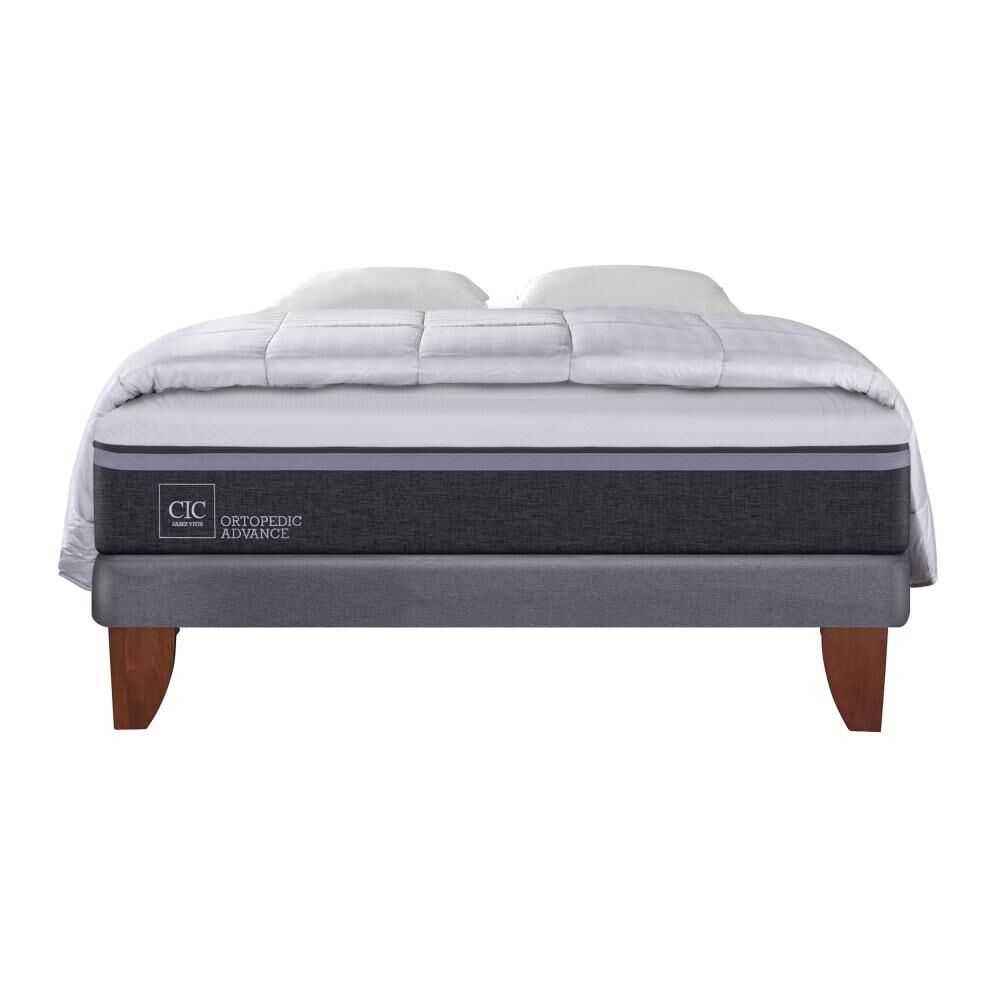 Cama Europea Cic Europea Ortopedic / 2 Plazas / Base Normal