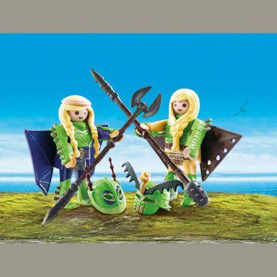 Figura De Acción Playmobil Chusco Y Brusca Con Traje Volador