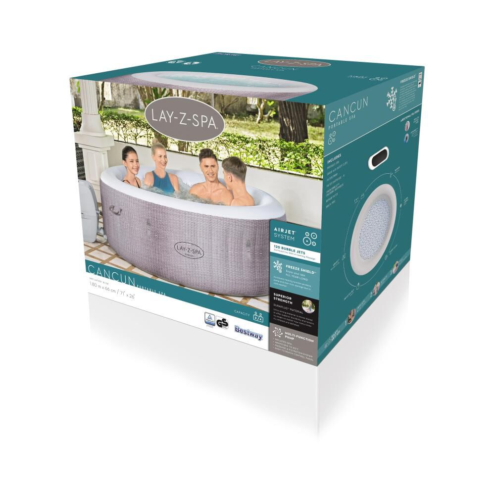 Spa Inflable Cancun Airjet Lay-z Bestway / 2-4 Personas image number 7.0