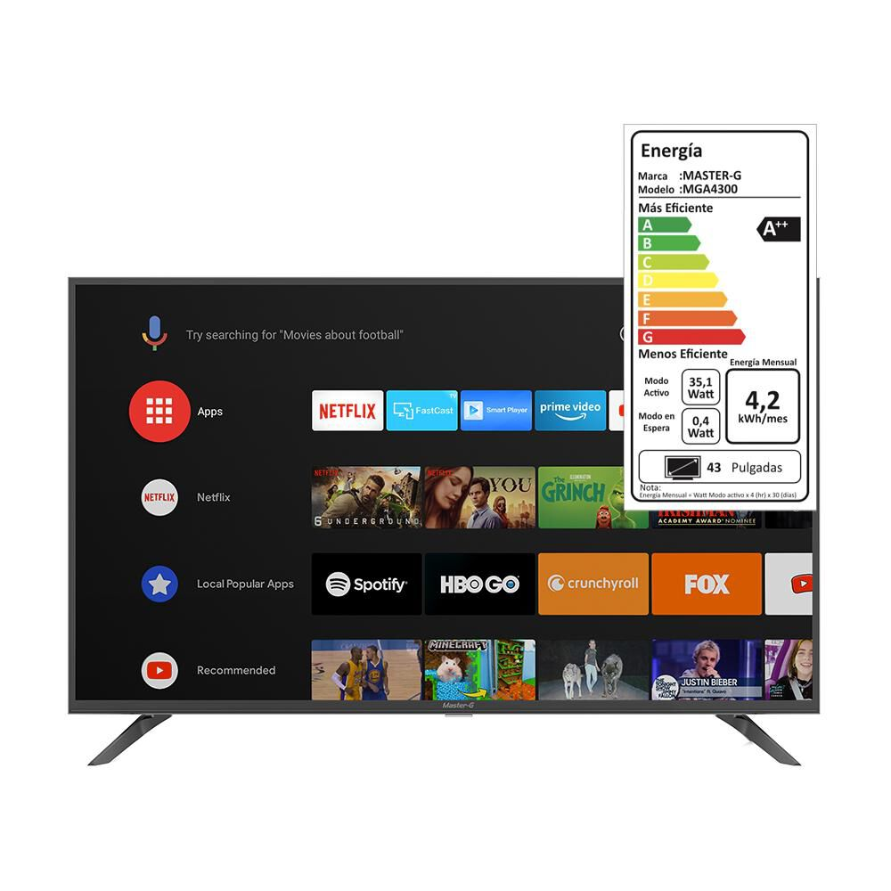 "Led Master G Mga4300 / 43"" / Full Hd / Smart Tv / Android Tv image number 5.0"