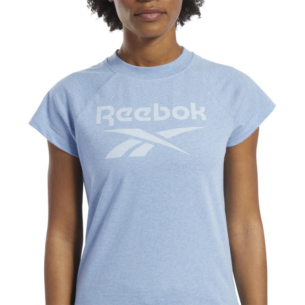 Polera Mujer Reebok Training Essentials Textured Logo image number 3.0
