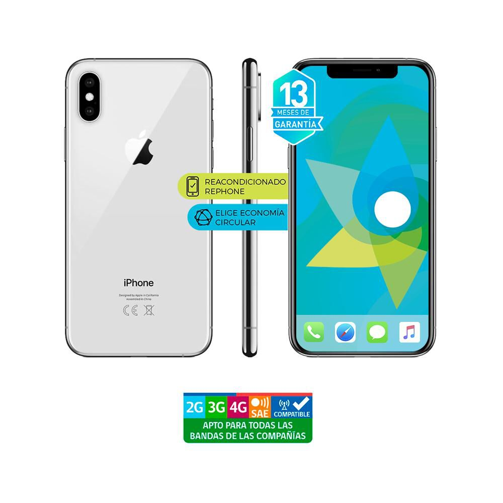 Smartphone Apple Iphone Xs Max Plata Reacondicionado / 64 Gb / Liberado image number 0.0