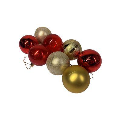 Esferas Casaideal Rojo/dorado 8 Piezas