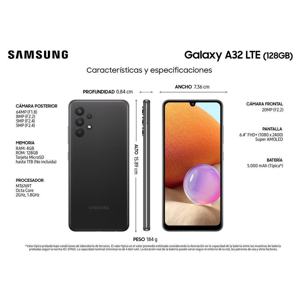 Smartphone Samsung A32 / 128 Gb / Liberado image number 2.0