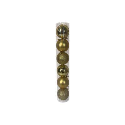 Esferas Casaideal Dorado 6 Piezas