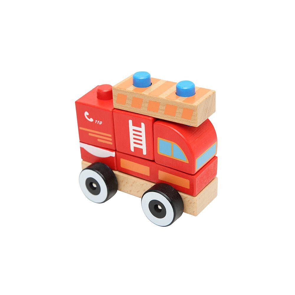 Juguete De Madera Baby Way Bomberos Bw-Jm11 image number 0.0