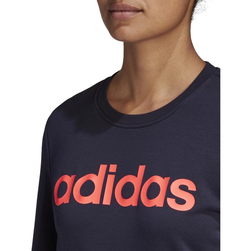 Polerón Deportivo Mujer Adidas Essentials Linear Crewneck image number 6.0