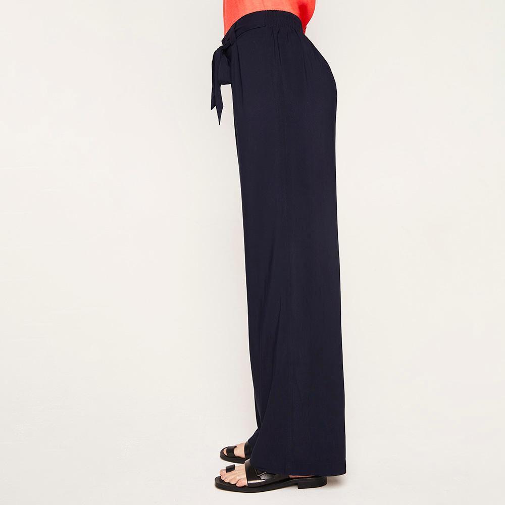 Pantalón Pretina Elástico Y Cinturón Tiro Medio Recto Mujer Kimera image number 4.0