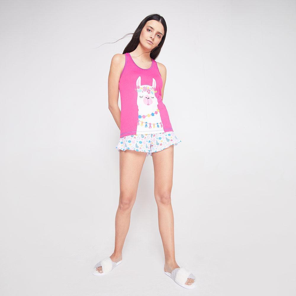 Pijama Musculosa Algodón Mujer Freedom image number 1.0
