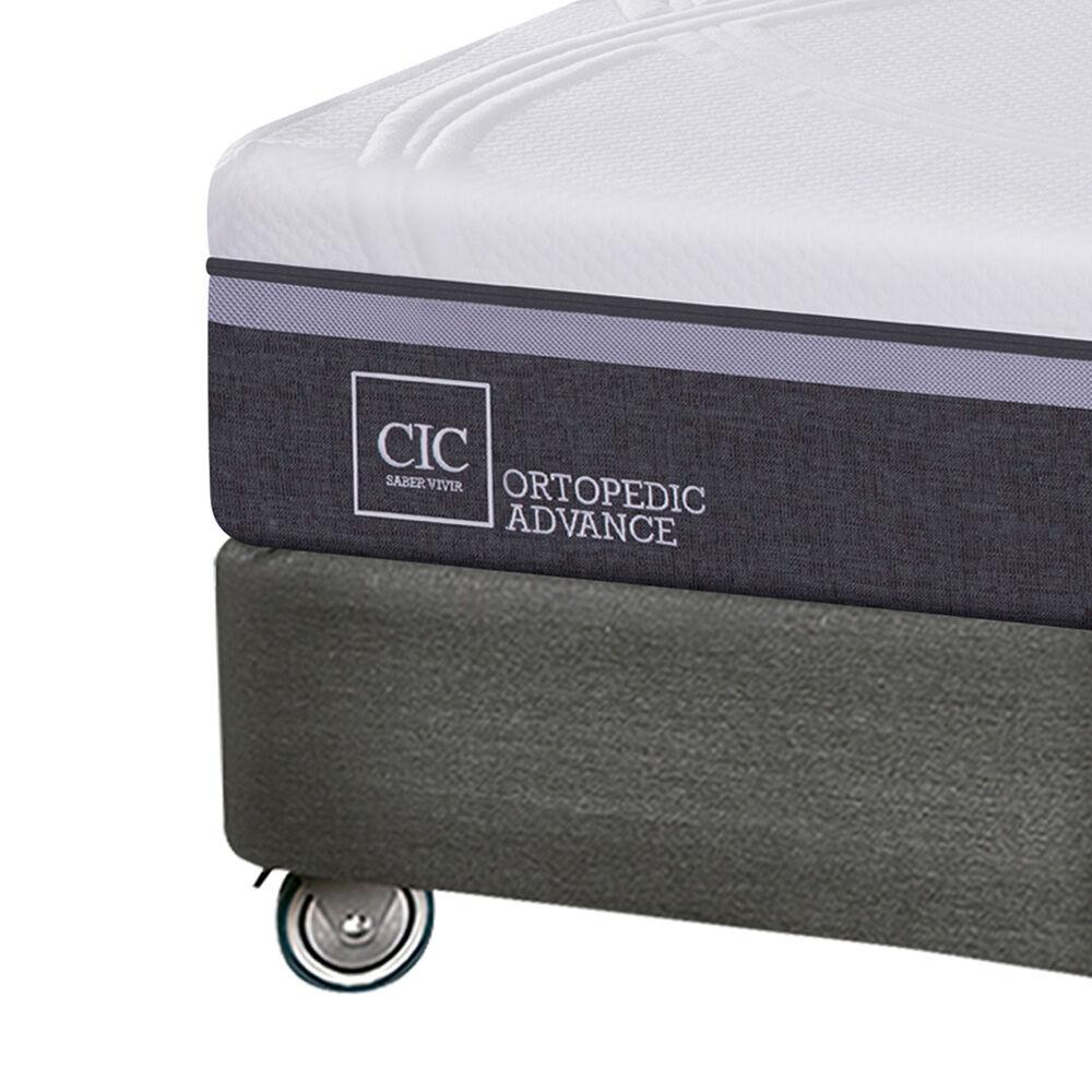 Box Spring Cic Ortopedic Advance / King / Base Dividida + Set De Maderas + Textil image number 2.0