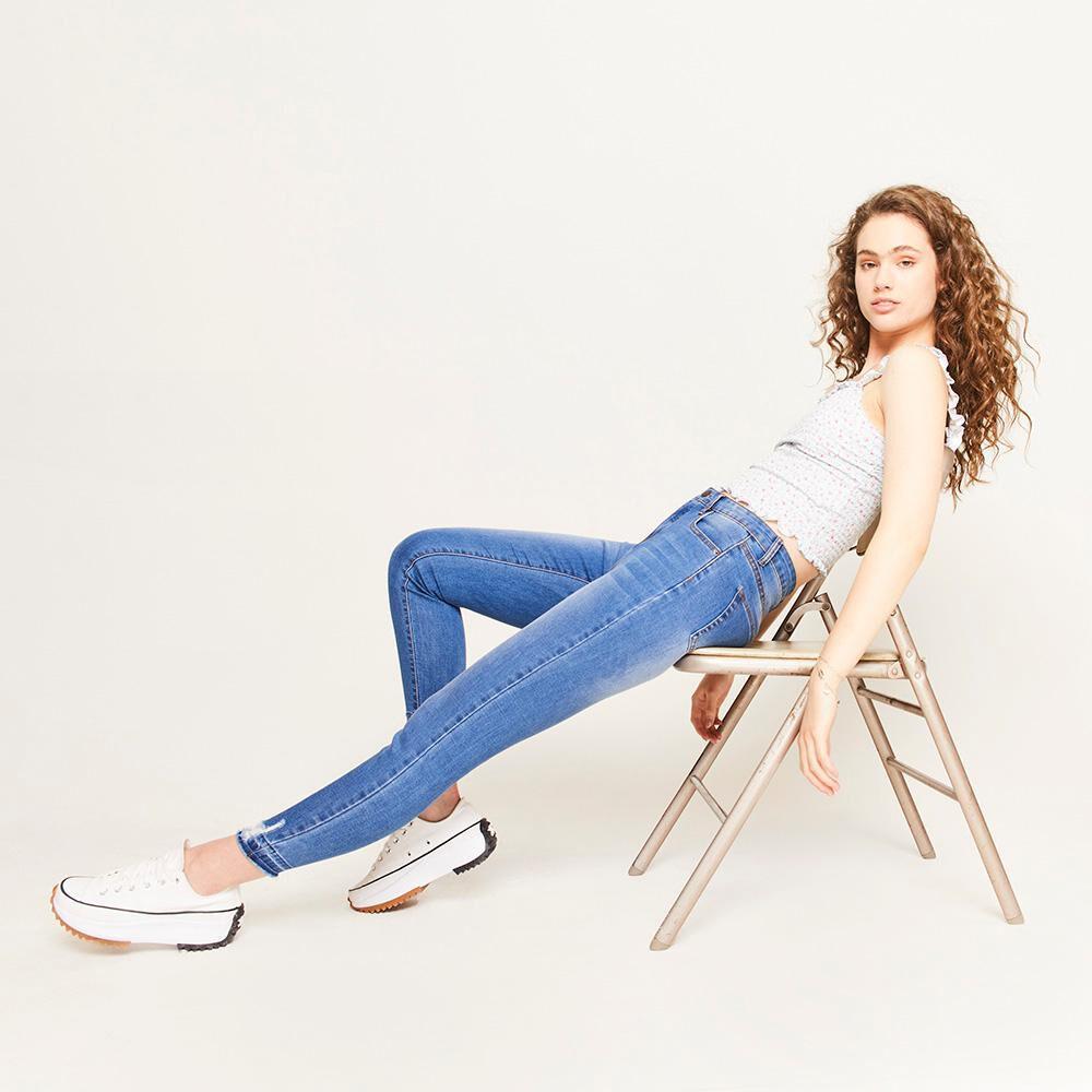 Jeans Rotura Tiro Alto Super Skinny Mujer Freedom image number 1.0