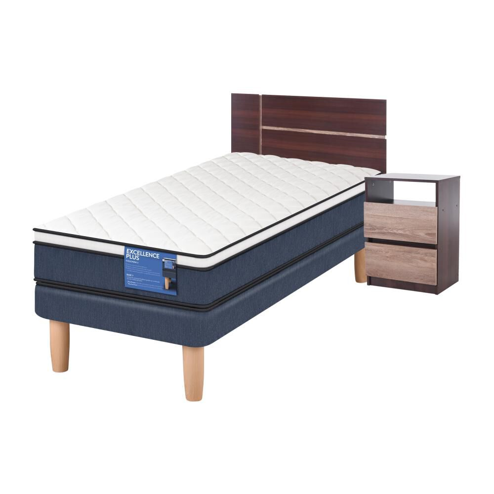 Cama Europea Cic Excellence Plus / 1 Plaza / Base Normal  + Set De Maderas image number 1.0