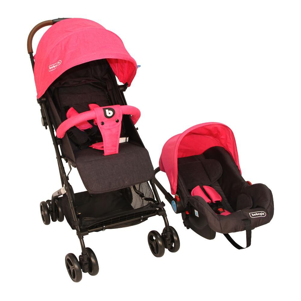 Coche Travel System Compacto Bebeglo RS-13785-2 Fucsia image number 0.0