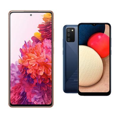 Smartphone Samsung S20 Fe Cloud Orange + Smartphone Samsung A02S Azul