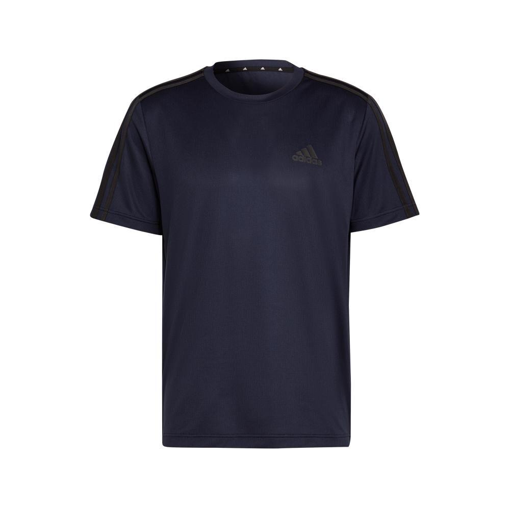 Polera Hombre Adidas Aeroready Designed To Move Sport 3 Bandas image number 8.0