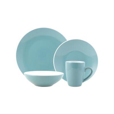 Juego De Vajilla Casaideal Bicolor Azul / 24 Piezas