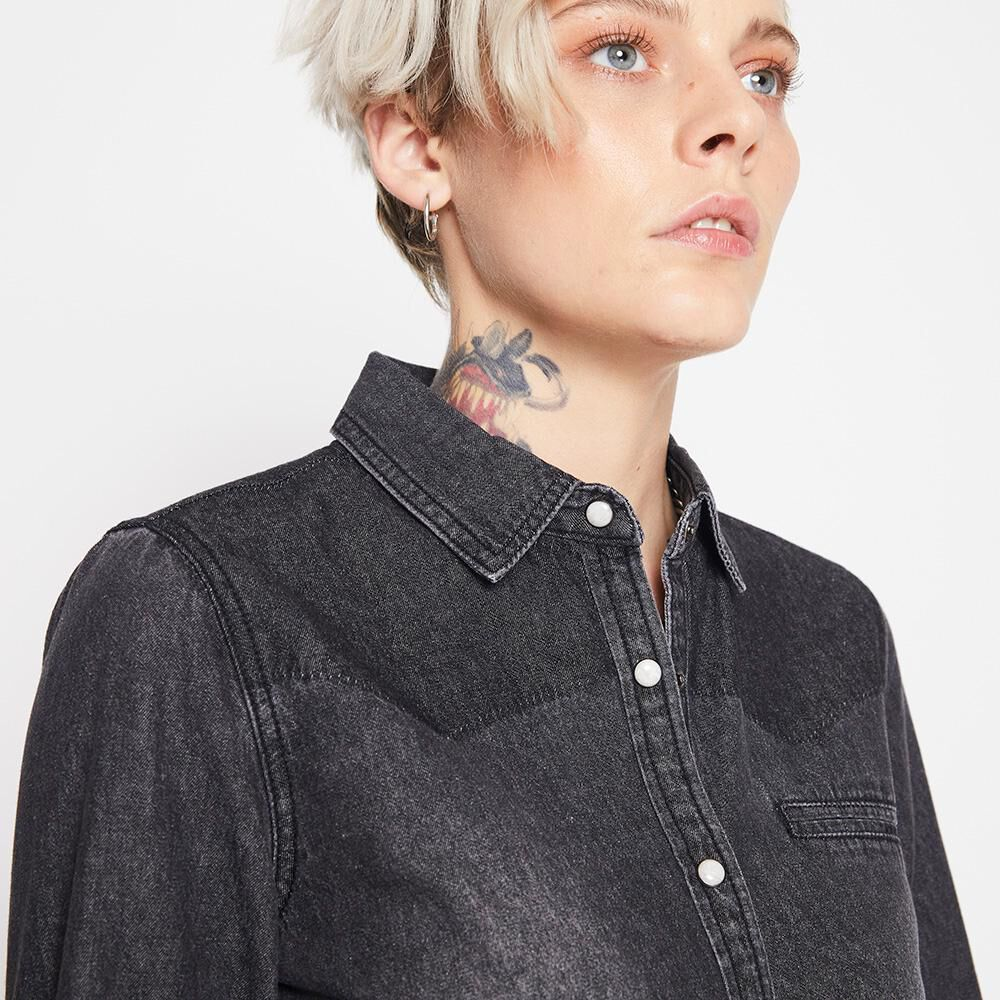 Blusa Mezclilla Mujer Rolly Go image number 3.0